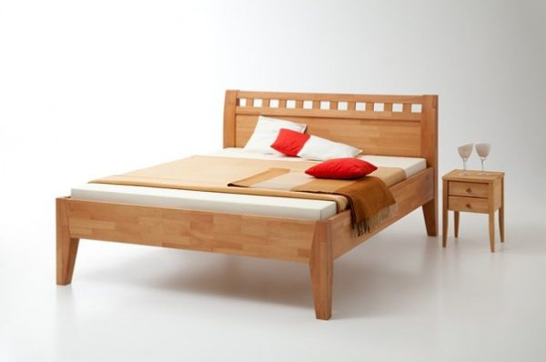 Massivholzbett Comfort 500 massiv geölt