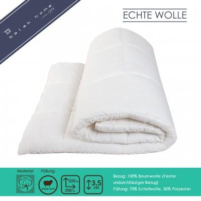 Bettdecke Echte Wolle