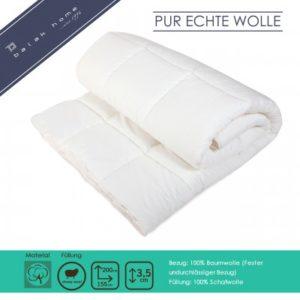 Bettdecke Pur Echte Wolle